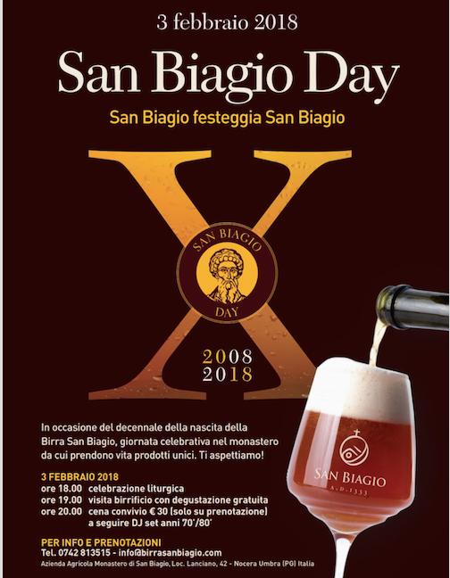 3 febbraio 2018: San Biagio Day