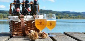 birra artigianale e castagne bicchieri