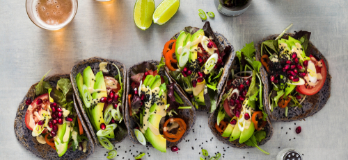 birra e cucina vegetariana tacos